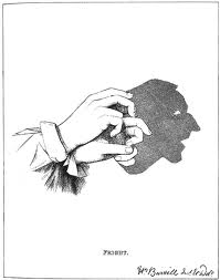 Hand Shadow, to Illustrate Foreshadowing in Writing